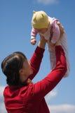 Baby met mamma Royalty-vrije Stock Afbeeldingen