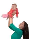 Baby met mamma Stock Afbeelding
