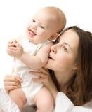 Baby met moeder Stock Foto's