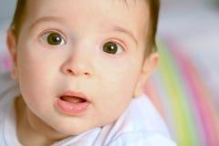 Baby met open mond Stock Fotografie