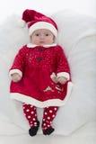 Baby met santahoed Royalty-vrije Stock Foto