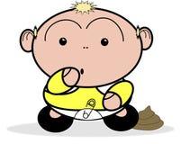 Baby met scherp mes Royalty-vrije Stock Afbeelding