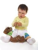 Baby met schoeisel royalty-vrije stock afbeelding