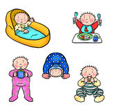 Baby Milestones. Illustrated chart of baby milestones Royalty Free Stock Images