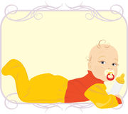 Baby with milk bottle. Child food Royalty Free Stock Photos