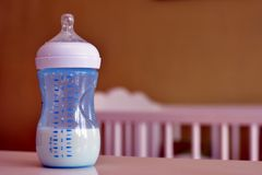 Baby milk bottle Stock Photography