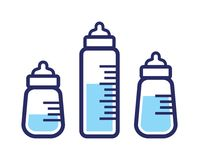 Baby milk bottle icon Royalty Free Stock Photography