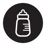 Baby milk bottle icon Stock Images