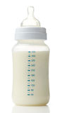 Baby milk bottle. Isolated on white background stock photo