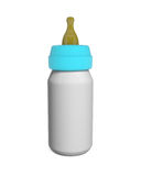 Baby Milk Bottle isolated on white Stock Photos