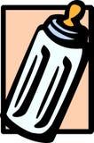 Baby milk bottle vector illustration. Vector illustration of a baby milk bottle Royalty Free Stock Image