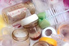 Baby milk bottle. Are washing , asian style stock photos