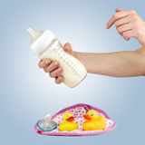 Baby milk formula. Royalty Free Stock Photo