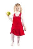 Baby mit Apfel Lizenzfreie Stockfotografie