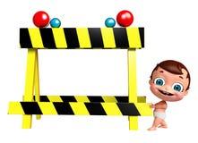 Baby mit Barrikade stock abbildung