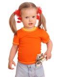 Baby mit Dollarbanknote. Lizenzfreie Stockbilder