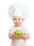 Baby mit gesunder Nahrung. Getrennt stockfoto