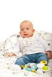 Baby mit weichem Lächeln Lizenzfreies Stockbild