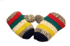 Baby mittens Royalty Free Stock Images