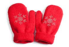 Baby mittens Stock Images