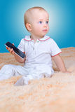 Baby and mobile royalty free stock photo