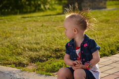 Baby with a Mohawk Stock Image