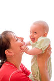 Baby with mom Stock Photo