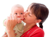 Baby with mom Royalty Free Stock Photo