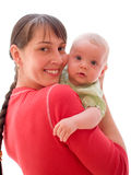 Baby with mom Royalty Free Stock Photos