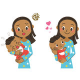 Baby and mom. The mom who holds a baby in her arm Stock Image