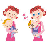 Baby and mom stock illustration