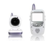 Baby Monitor. A baby monitor isolated against a white background Stock Photography
