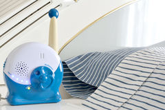 Baby monitor. On bedside table next to parents bed Stock Photography