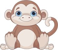 Baby monkey stock illustration