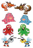 Baby monster. Funny halloween  vector characters Royalty Free Stock Photography