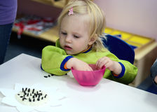 Baby in montessory class Stock Photography