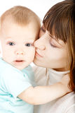 Baby with mother Royalty Free Stock Photos