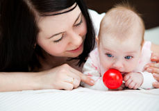 Baby and mother Royalty Free Stock Images
