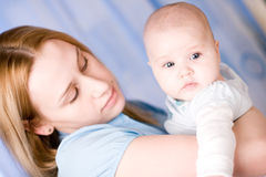 Baby and mother Stock Photo