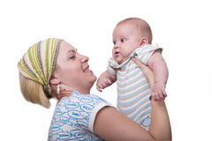 Baby with mother Royalty Free Stock Images