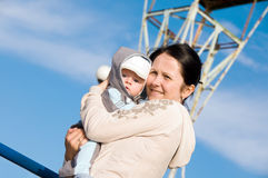 baby mother Στοκ φωτογραφία με δικαίωμα ελεύθερης χρήσης