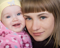 Baby and mother Royalty Free Stock Photos