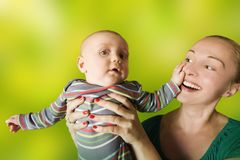 Baby and mother Royalty Free Stock Photo