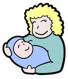 Baby mother Stock Photography