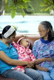 Baby, mother and grandma royalty free stock photos