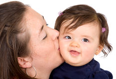 Baby and mother portrait Royalty Free Stock Photos