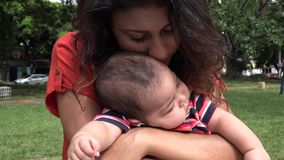 Baby and Mother, Single Mother, Infant stock video