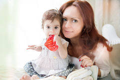 Baby  and mother toget Royalty Free Stock Images