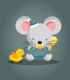 Baby Mouse. A cute little baby mouse Royalty Free Stock Image
