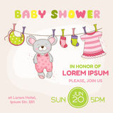 Baby Mouse Shower Card - with place for your text Royalty Free Stock Photo